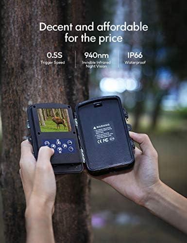 APEMAN Mini c/ámara de caza 16 MP 1080P impermeable seg/ún IP66 con tarjeta SD de 16 GB 850 nm Visi/ón Nocturna para observaci/ón de animales salvajes y vigilancia dom/éstica