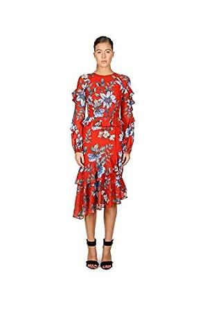 Cooper St Women's Floral Courtyard Long Sleeve Ruffle Dress, Print Dark, 10