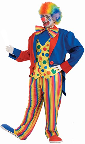 Plus Size Clown Halloween Costumes (Forum Novelties Men's Plus-Size Big Fun XXX-Large Clown Costume, Multi,)