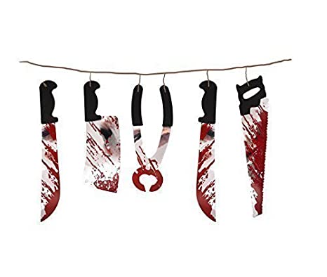 HENBRANDT Garland Torture for Halloween Decorations Material Plastic Size 1.80m