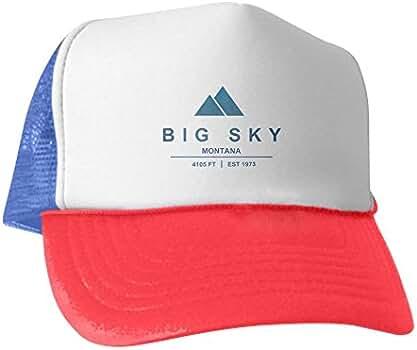 f181bafd7 Amazon.com: CafePress - Big Sky Ski Resort Montana - Trucker Hat ...
