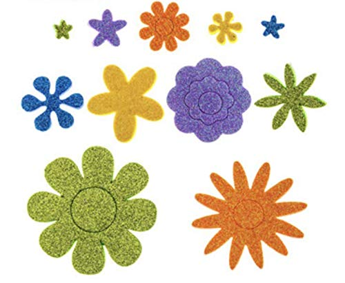 286 Piece Foam Glitter Flower Stickers -