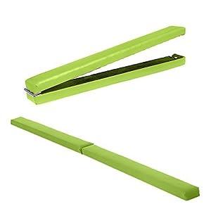 Limetten Grün Kunstleder Zusammenfaltbar Gymnastik Training Schwebebalken
