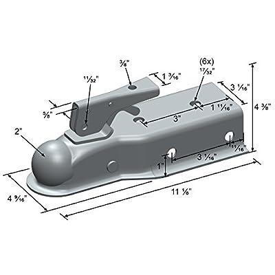 Quick Products QP-HS3025Z Trailer Coupler (Zinc Trigger-Style - 2