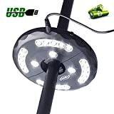 CHINLY Patio Umbrella Lights 24LEDs 3 Level Dimming Modes - Battery/USB Operated,Umbrella Pole Light for Patio Umbrellas, Outdoor Use, Or Camping Tents