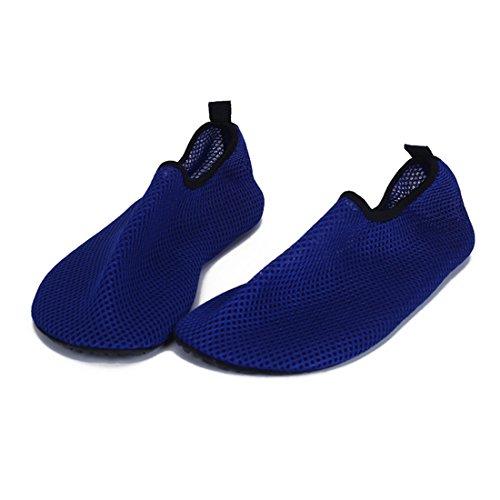 Aqua Water Sports Socks Skin Shoes For Beach Fitness Yoga Scuba Running Gym Blue