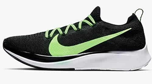 Nike Zoom Fly Flyknit Men's Running Shoe Black/Lime Blast-VAST Grey Size 10