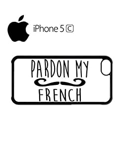 LJF phone case Pardon My French Moustache Mobile Cell Phone Case Cover iphone 5/5s Black