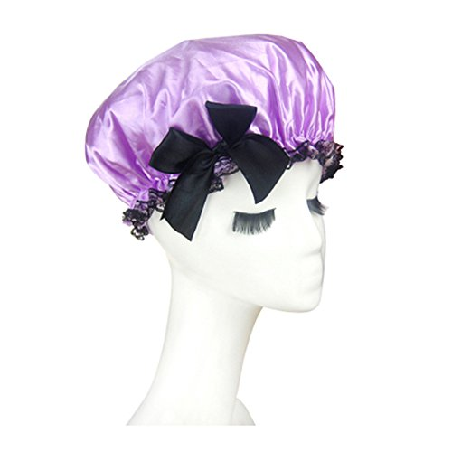 dolly2u-quality-thickening-shower-cap-double-layers-waterproof-bath-cap-bowknot-purple
