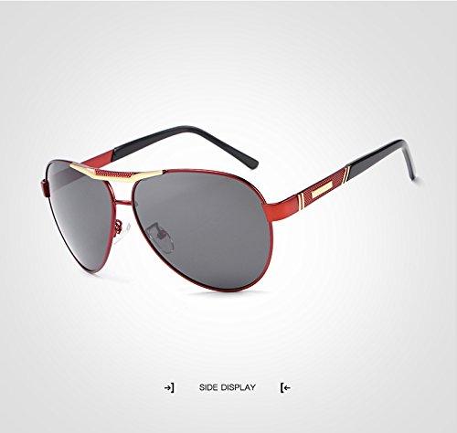 Polarized Color Bridge Aluminio Brown Sunglasses Aviation Glasses Eyewear Sun HD Classic Titanium Jusheng Hombres UV400 Conducción Hombres Brown Brand TR90 wFgTSIq