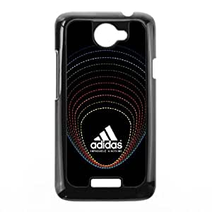HTC One X Cell Phone Case Black Dotted Border Adidas Logo R3H2MS