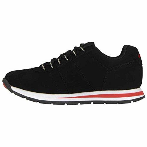 Lugz Herenloop Klassiek Fashion Sneaker Zwart / Wit / Rood