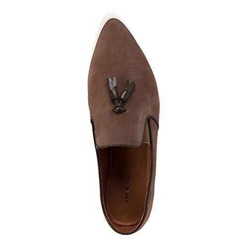Alle Zwarte Damesschoenen Van Tux Loafers Schoenen Taupe