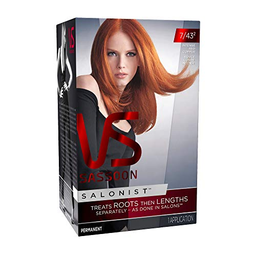 Vidal Sassoon Salonist Hair Colour Permanent Color Kit, 7/43 2 Intense Red Copper (PACKAGING MAY VARY)