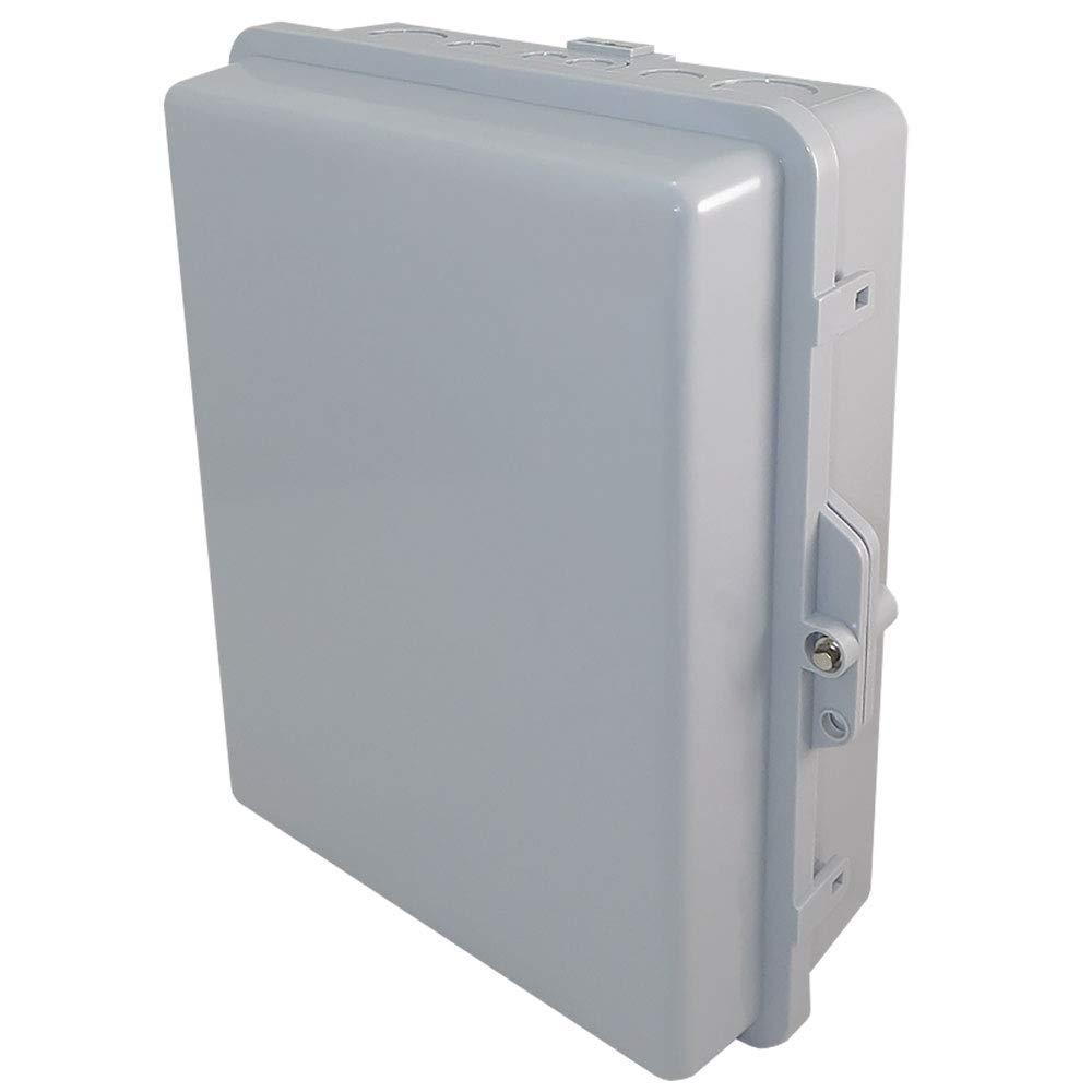 Altelix NEMA Enclosure 12'' x 8'' x 4'' Inside Space Polycarbonate + ABS Weatherproof Tamper Resistant NEMA Box