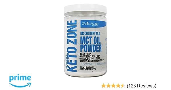Keto Zone Mct Oil Powder Coconut Cream Flavor 30 Day Supply 75