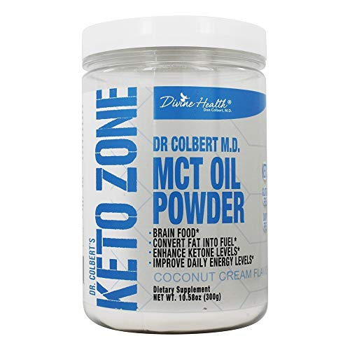 Keto Zone MCT Oil Powder | Coconut Cream Flavor | 30 Day Supply | 75/C8 25/C10 | 0 Net Carbs | All Natural Keto Approved For Ketosis |