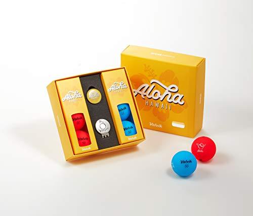 Volvik Vivid Golf Balls State Edition Gift Packs - 6 Balls Ball Marker & Magnetic Hat Clip (Hawaii)