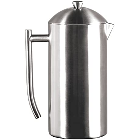 Frieling USA Double Wall Stainless Steel French Press Coffee Maker With Patented Dual Screen In Frustration Free Packaging Brushed 44 Ounce
