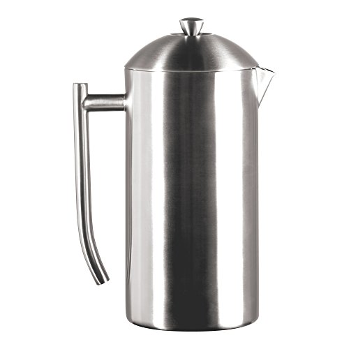 Frieling USA Double Wall Stainless Steel French Press Coffee Maker with Zero Sediment Dual Screen, Brushed, 44-Ounce