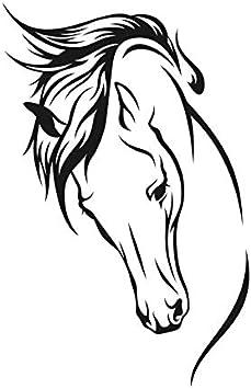 Mylar Pochoir r/éutilisable Motif t/ête de cheval Format A5 A4 A3 pour enfants et animaux 146 Pochoir repositionnable A3 size 297 x 420 mm 11.7 x 16.5 in