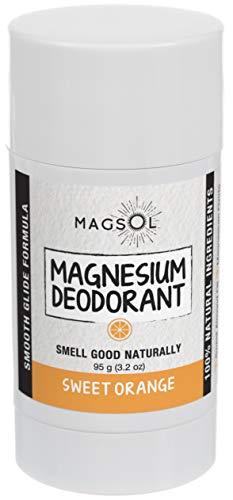 Sweet Orange (Light&Clean Scent) Magnesium Deodorant - Aluminum Free, Baking Soda Free, Alcohol Free, Cruelty Free, Sensitive Skin, All Natural, For Women Men Boys Girls Kids, 2.8oz: Lasts >4 months
