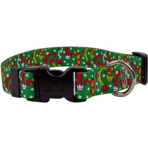 Yellow Dog Design Easy-Snap Pet Collar, Christmas Stockings, Medium 14