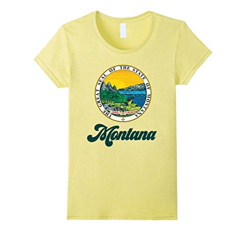 Womens I Love Montana Home Tshirt Montana State Home Tee Xl Lemon