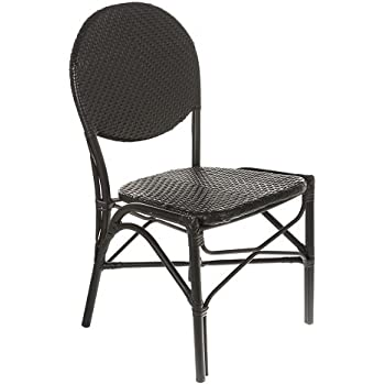 Table In A Bag CBCBB All Weather Wicker French Café Bistro Chair With  Aluminum Frame