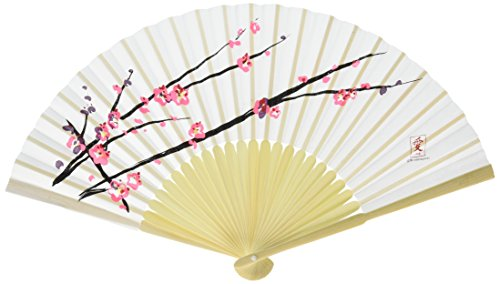 Cherry Blossom Hand Fans W8573 Quantity of 6