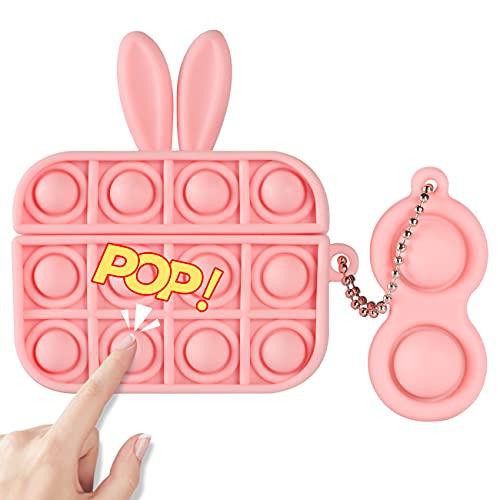 POP IT FUNDA DE SILICONA, P/ AIRPOD PRO CASE/pink orejas