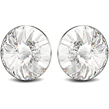 Small Sterling Silver Stud Earrings for Women Teen Girls and Men made with Swarovski Crystals