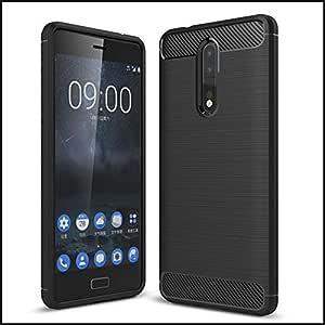 Likgus Nokia 8 Shockproof Case Slim Fit Armor Series Hybrid Carbon Case Cover - Black