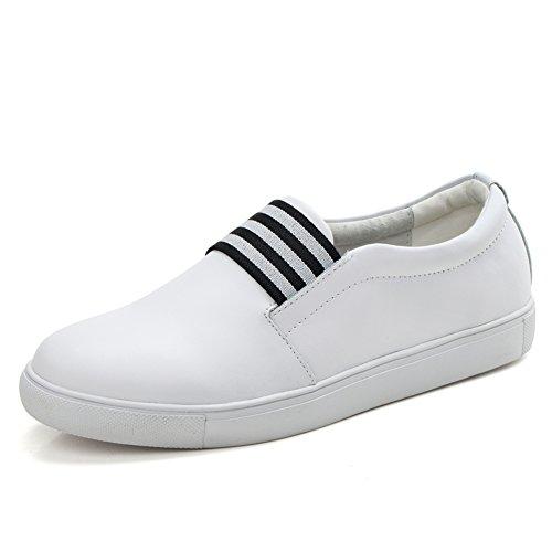 Estudiante las los Aman A zapatos Cuero manoletinas Las Blanco Zapatos Blanco Zapatos De Ocasionales Mujeres Primavera Del Los AUBqIFOxS