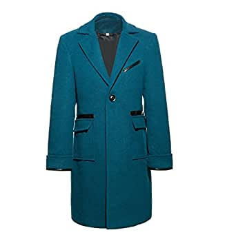 Xfang Costume Cosplay Tailored Collar Wollen Mens Overcoat (XS)