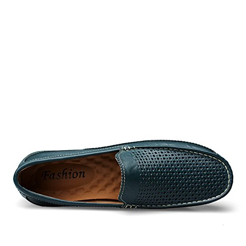amp;Baby Blue Sunny Black Suela Penny Mocasines Color on Conducción Tip Suave Bare Hombres Wing Tamaño Hollow Hollow Antideslizante Vamp Plana Edge los Loafers EU Slip 42 de Fr1dwXnqr