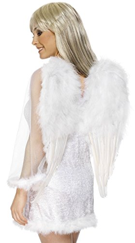 [Smiffys Christmas Halloween Costume White Feather Angel Wings] (Angel Wings For Halloween Costumes)