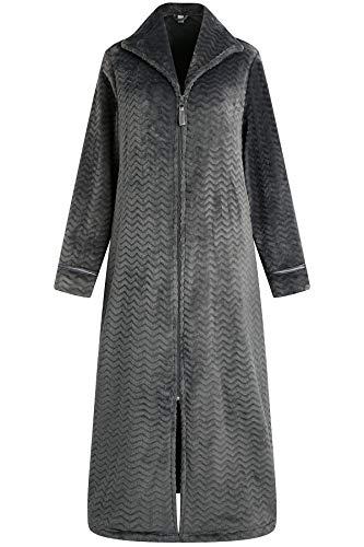 Richie House Women's Soft and Warm Fleece Robe with Zipper Size S-XL RHW2856