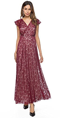 Selenaly Plus Size Formal Dresses for Women Evening Party Wedding(Burgundy -