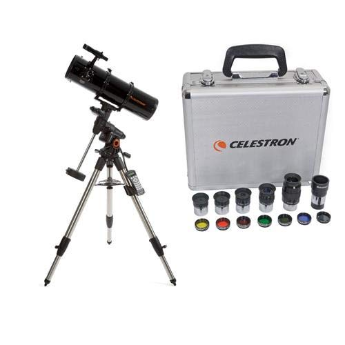 Celestron Advanced VX 6'' Newtonian Telescope - with Deluxe Accessory Kit (5 Plossl Eyepieces, 1.25'' Barlow Lens, 1.25'' Filter Set, Accessory Carry Case by Celestron