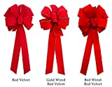 """12-Pack Christmas Bows 10"""" x"""