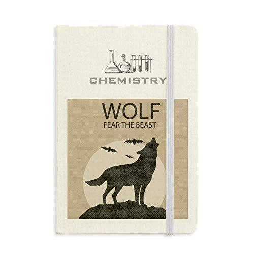Wolf Ghost Fear Halloween Pumpkin Chemistry Notebook Classic Journal Diary A5 -