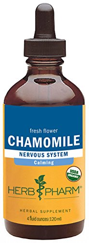 Herb Pharm Certified Organic Chamomile Extract for Calming Nervous System Support - 4 Ounce Chamomile Tincture