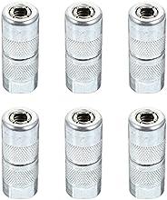 Wakauto 6 peças de reposição de graxa, bocal de latão para reposição de graxa, ferramenta de acessórios do pul