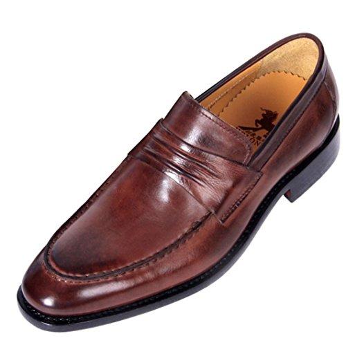 Les Chaussures Habillées en Cuir Faites sur Commande des Hommes Faits à la Main des Chaussures de Banquet d'affaires Mocassins de Haute qualité Confortables conduisant des Chaussures Brown