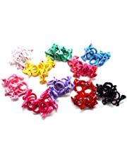 Charlotte 60 PCS Baby Hair Bands Hair Ties Ponytail Holder for Kids Tiny Soft Hair Ties for Toddler Small Seamless Bands No hurt & No Crease (FLOWER-A)