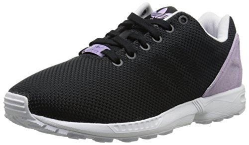 adidas Originals Women's ZX Flux Weave W Lifestyle Runner Sneaker, Core Black/Core Black/Purple, 8.5 M US