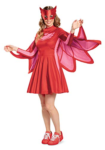 Disguise Women's Owlette Classic Adult Costume, Red,