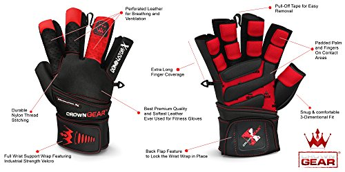 Weightlifting Gloves For Gym Fitness Crossfit Bodybuilding - Workout Gloves For Men -7580