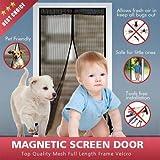 Unistore-39inch*86inch Magnetic screen door. Strong 9 magnet Mesh door for anti bug invasion